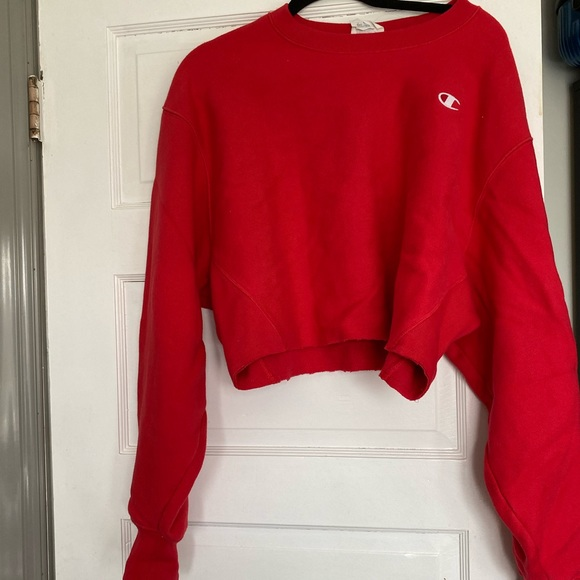 Mint condition champion crop sweat shirt